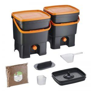 Bokashi Organko set črno/oranžna barva