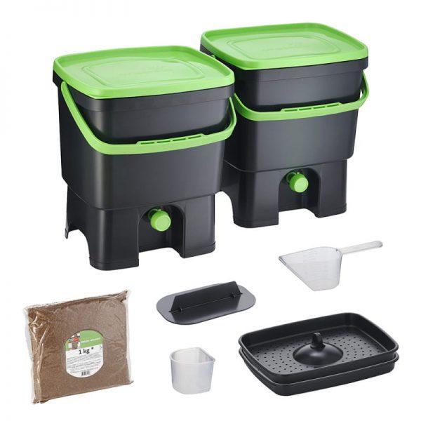Bokashi Organko set črno/zelena barva