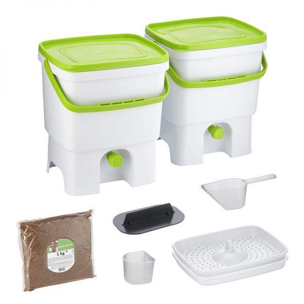 Bokashi Organko set belo/zelena barva