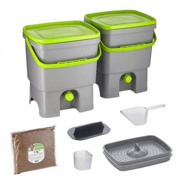 Bokashi Organko set sivo/zelena barva
