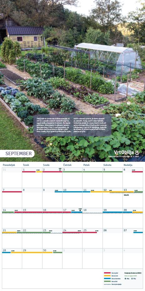 September Vrtnarski koledar 2020
