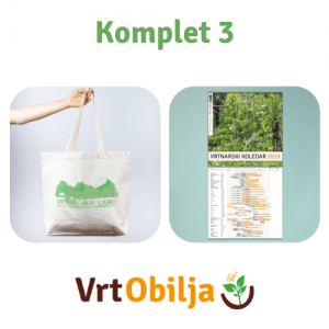 Komplet 3 - Bombažna vrečka in vrtnarski koledar
